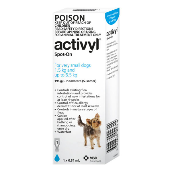 Activyl Light Blue Spot-On for Puppies & Very Small Dogs - Single 1