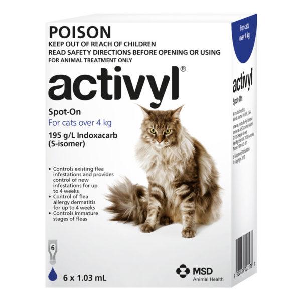 Activyl Dark Blue Spot-On for Medium & Large Cats - 6 Pack 1