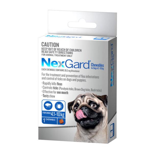 NexGard Blue Chew for Medium Dogs (4.1-10kg) - Single 1