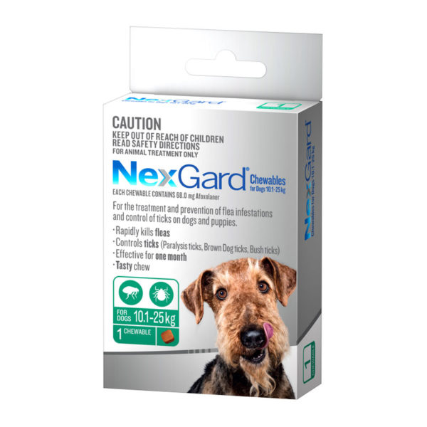 NexGard Green Chew for Large Dogs (10.1-25kg) - Single 1