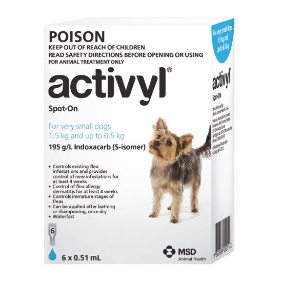 Activyl Light Blue Spot-On for Puppies & Very Small Dogs - 6 Pack 1