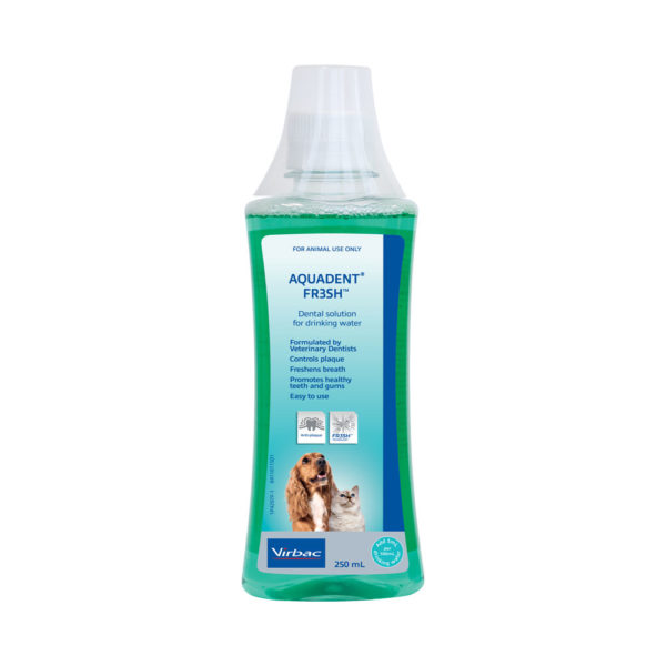 Aquadent FR3SH Water Additive for Dogs and Cats 250ml 1