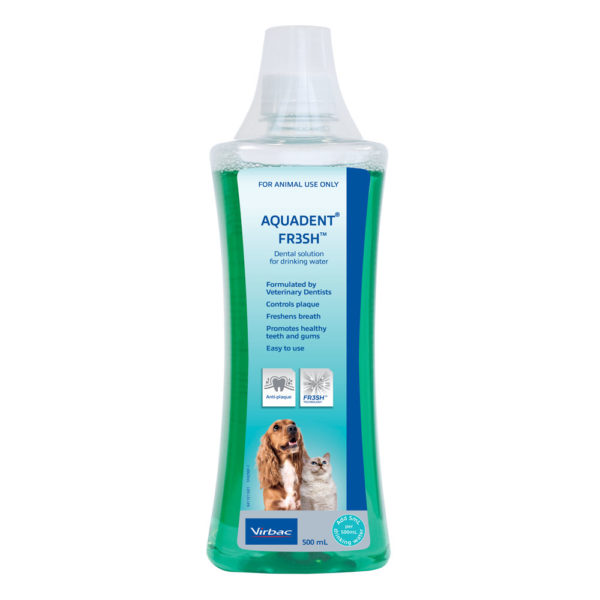 Aquadent FR3SH Water Additive for Dogs and Cats 500ml 1