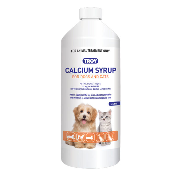 Calcium Syrup for Dogs & Cats 1L 1