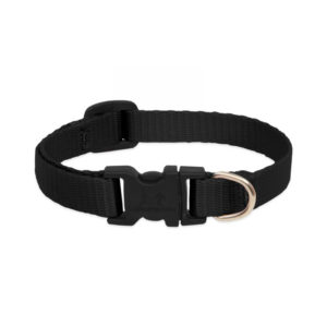 "Lupine Black Large Dog Collar 12-20"" 1"