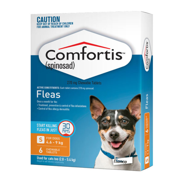 Comfortis Orange Chews for Small Dogs - 6 Pack 1