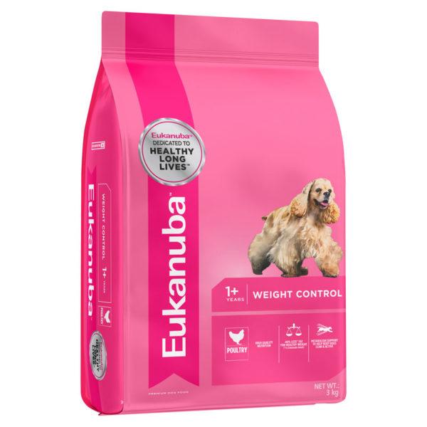 Eukanuba Adult Dog Weight Control All Breed 3kg 1
