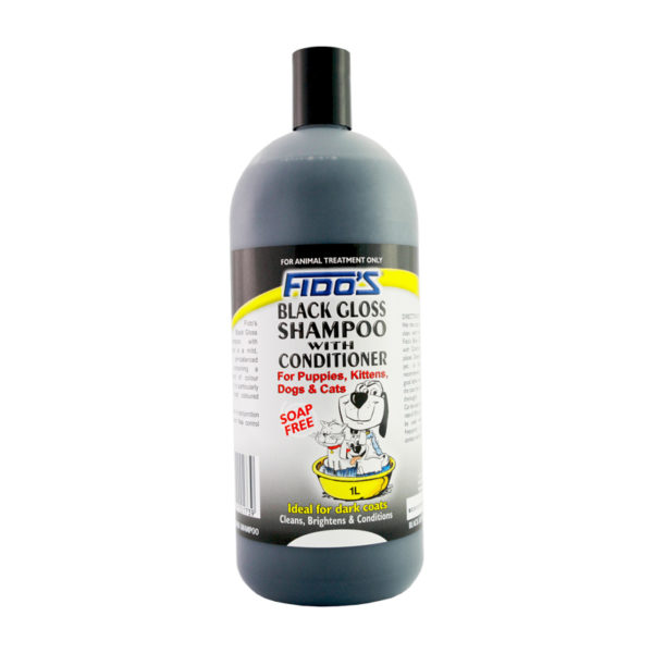 Fido's Black Gloss Shampoo 1L 1