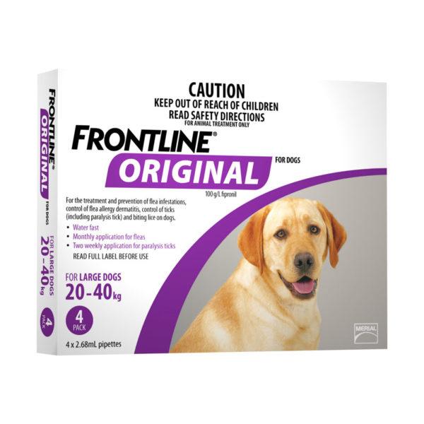 Frontline Original Purple Spot-On for Large Dogs - 4 Pack 1