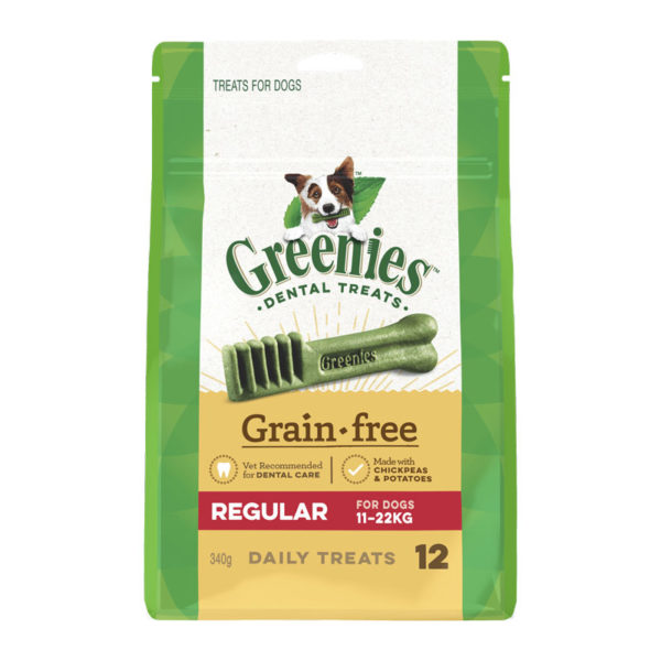 Greenies Grain Free Regular Dental Treats for Dogs - 12 Pack 1