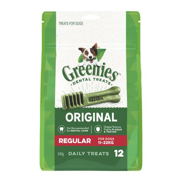 Greenies Original Regular Dental Treats for Dogs - 12 Pack 1