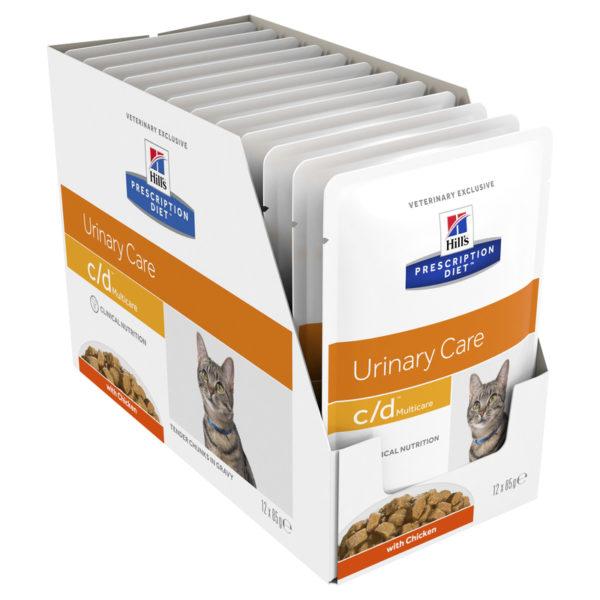 Hills Prescription Diet Feline c/d Urinary Multicare Chicken 85g x 12 Pouches 1