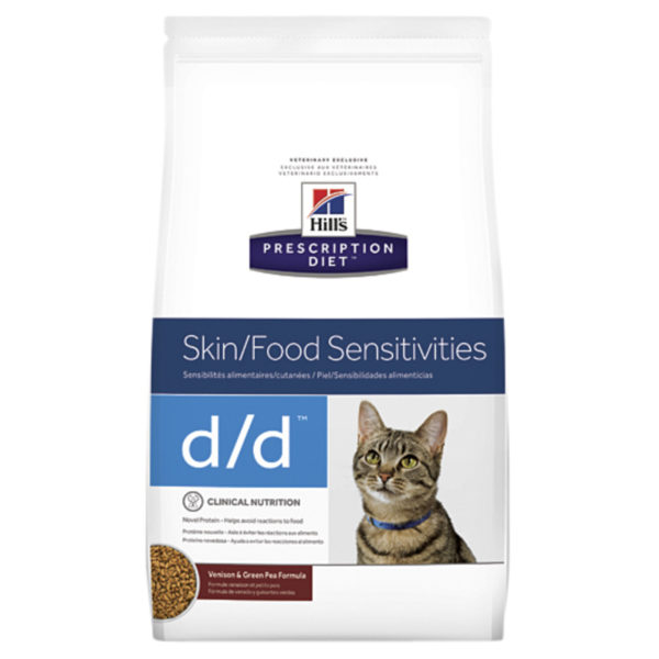 Hills Prescription Diet Feline d/d Skin/Food Sensitivities Venison & Green Pea 1.59kg 1