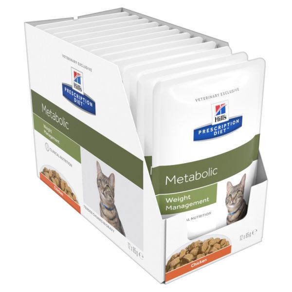 Hills Prescription Diet Feline Metabolic 85g x 12 Pouches 1