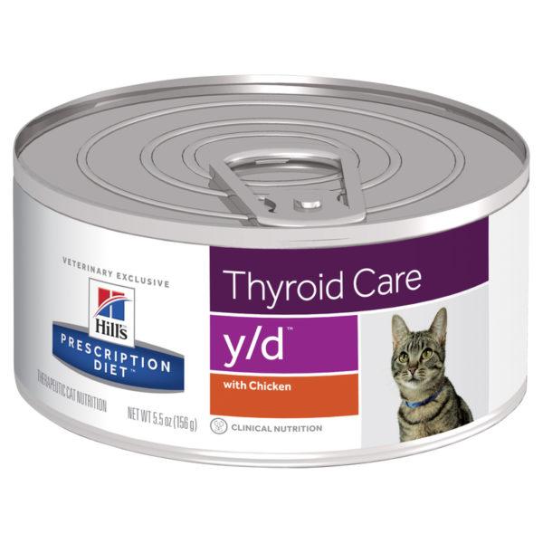 Hills Prescription Diet Feline y/d Thyroid Care 156g x 24 Cans 1