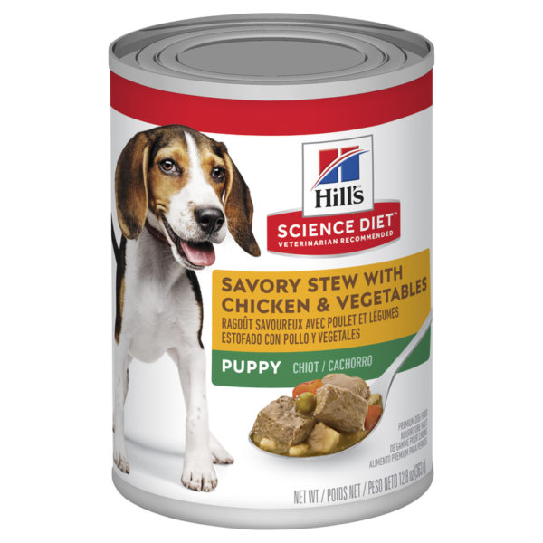 Hills Science Diet Puppy Savoury Stew with Chicken & Vegetables 363g x 12 Cans 1