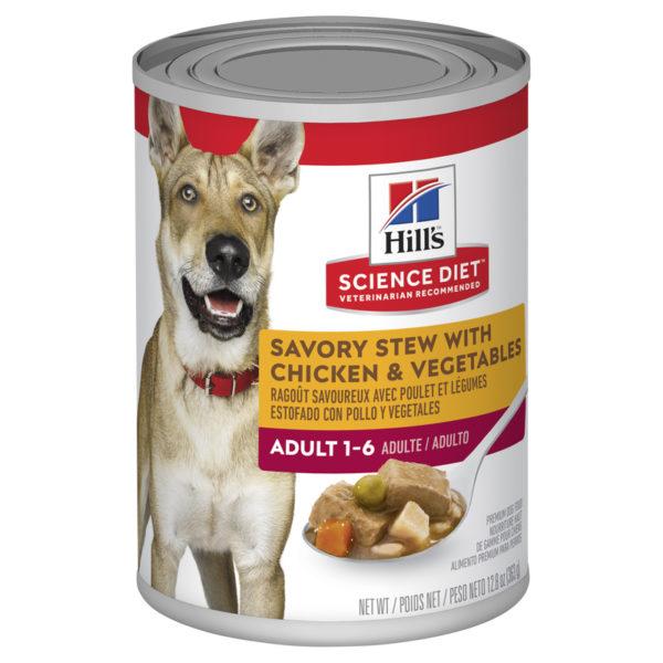 Hills Science Diet Adult Dog Savoury Stew with Chicken & Vegetables  363g x 12 Cans 1