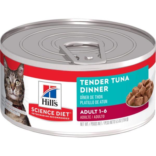 Hills Science Diet Adult Cat Tender Tuna Dinner 156g x 24 Cans 1