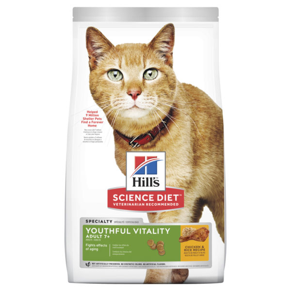Hills Science Diet Adult Cat 7+ Youthful Vitality 2.72kg 1