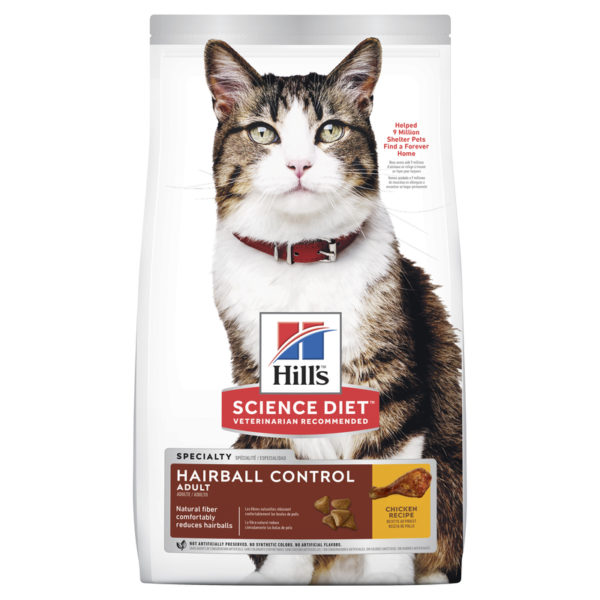 Hills Science Diet Adult Cat Hairball Control 4kg 1