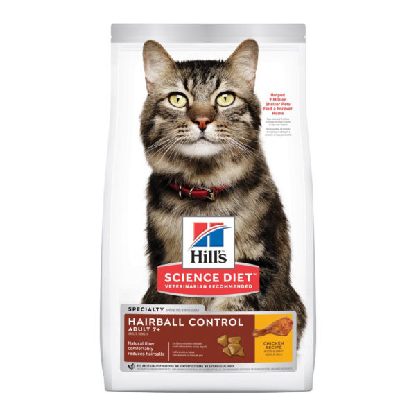 Hills Science Diet Adult Cat 7+ Hairball Control 4kg 1