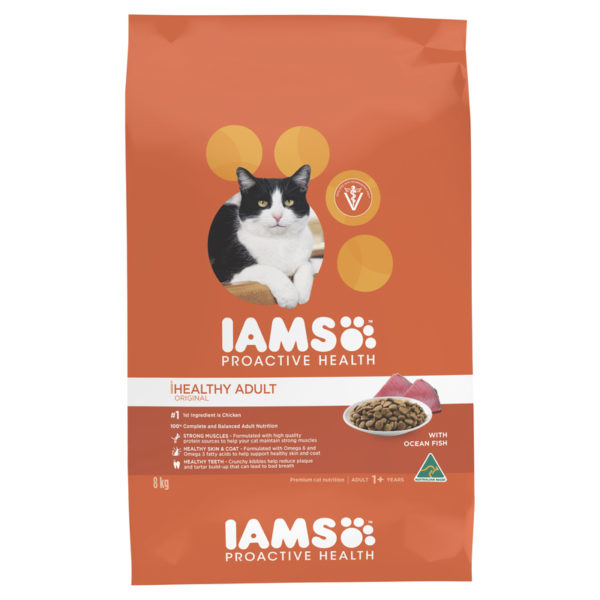 IAMS Healthy Adult Original with Ocean Fish 8kg 1