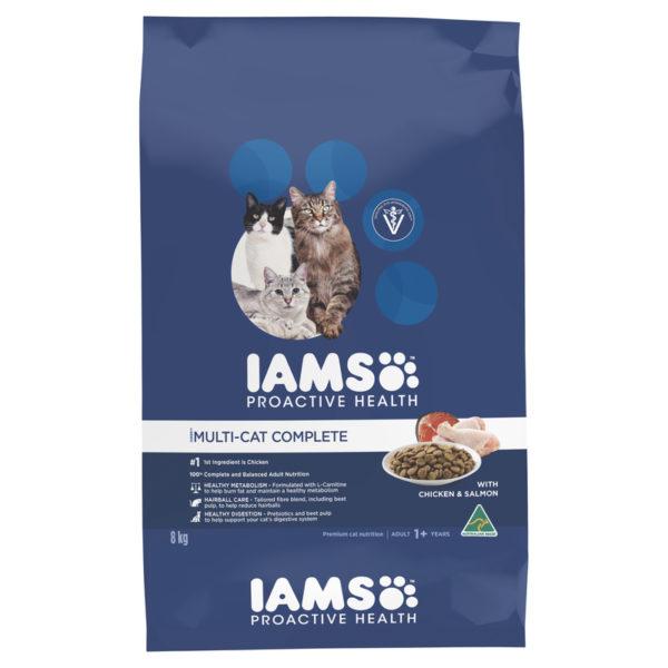 IAMS Adult Multi-cat Complete Chicken & Salmon 8kg 1