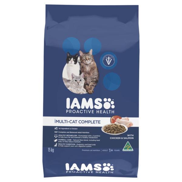 IAMS Adult Multi-cat Complete Chicken & Salmon 15kg 1