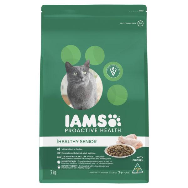 IAMS Healthy Mature & Senior Cat Chicken 3kg 1