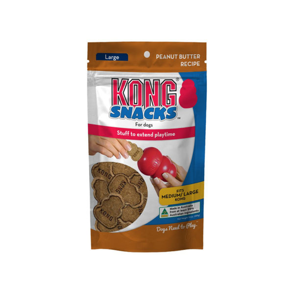 Kong Snacks for Dogs Peanut Butter Recipe Large 300g 1
