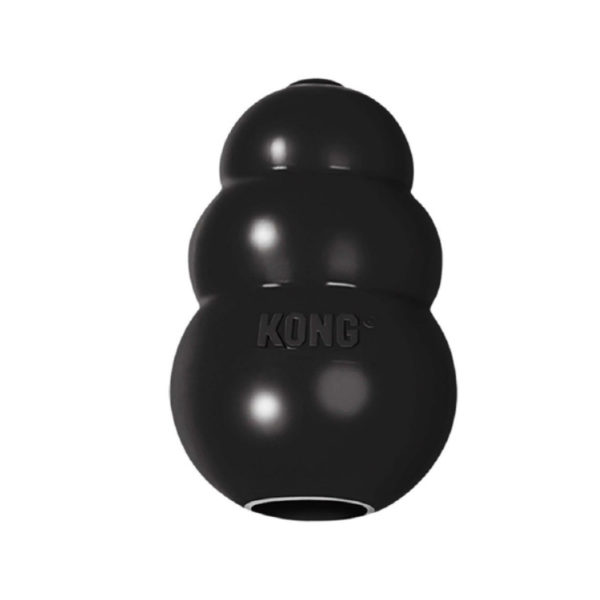 Kong Extreme Black Rubber Dog Toy Medium 1