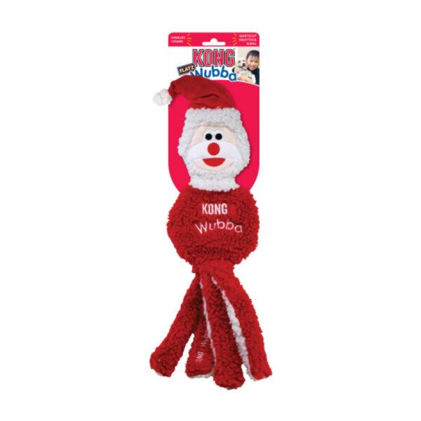 KONG Dog Christmas Wubba Flatz Santa 1