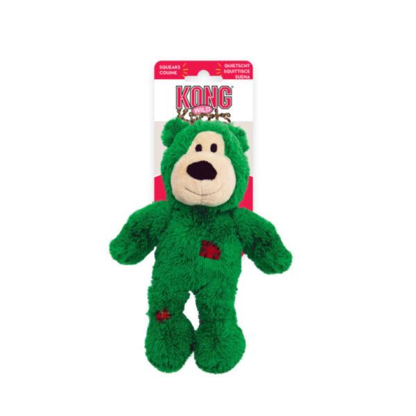 KONG Dog Christmas Wild Knot Bear Green 1