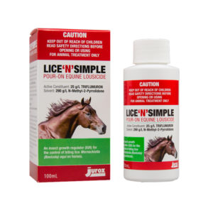 Lice N Simple Pour On Equine Lousicide 100ml 1