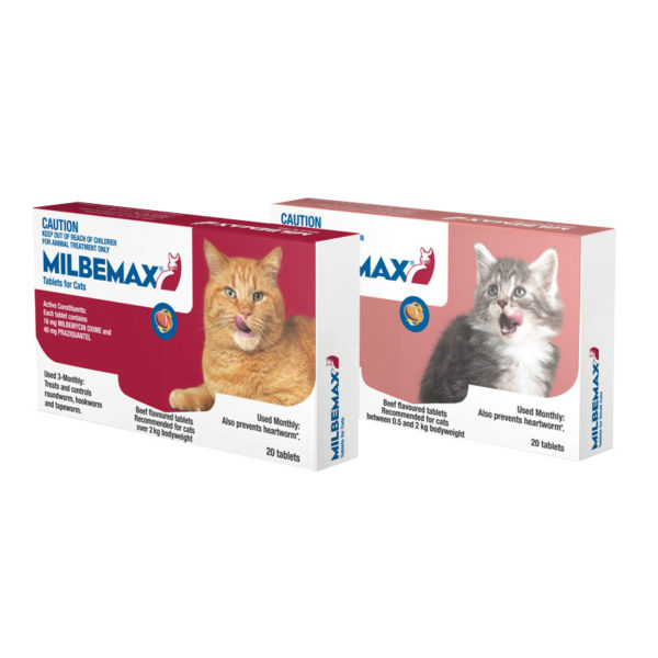 Milbemax Allwormer Tablets for Cats (2-8kg) - 20 Pack 1