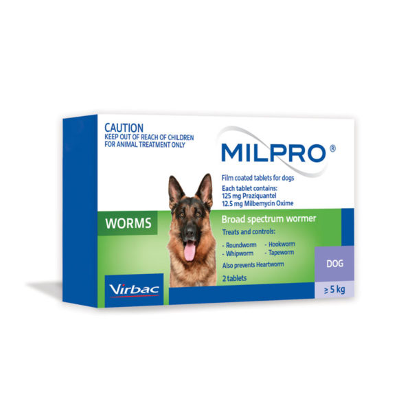 MILPRO Allwormer Tablets for Dogs - 2 Tablets 1