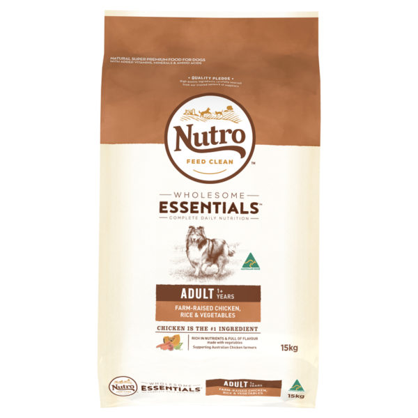 Nutro Wholesome Essentials Adult Dog Chicken Rice & Vegetables 15kg 1