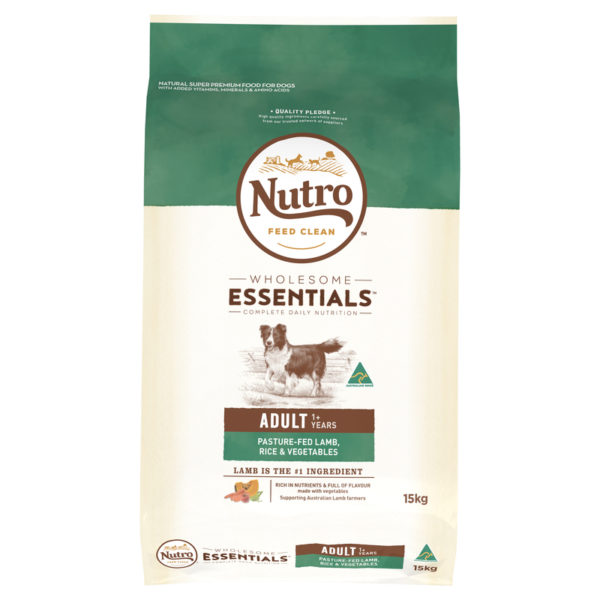 Nutro Wholesome Essentials Adult Dog Lamb Rice & Vegetables 15kg 1