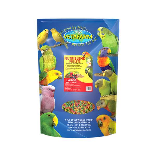 Vetafarm Nutriblend Large Parrot Pellets 8kg 1