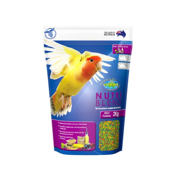 Vetafarm Nutriblend Mini Parrot Pellets 350g 1