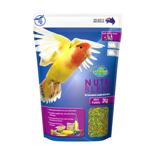 Vetafarm Nutriblend Mini Parrot Pellets 2kg 1