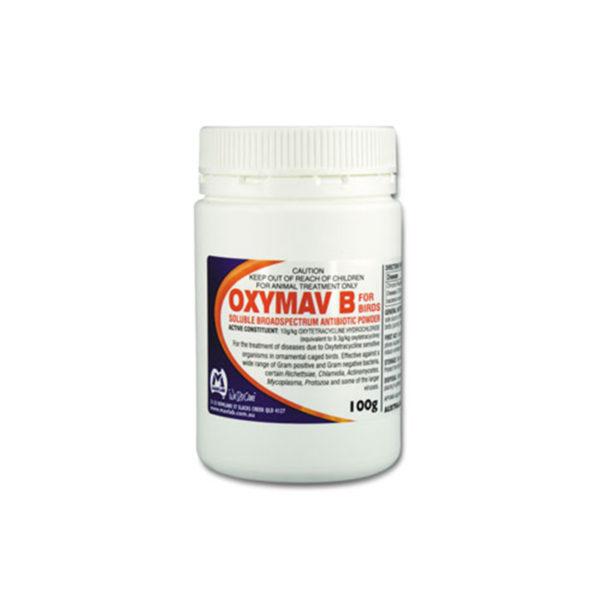 Oxymav B for Birds Antibiotic Powder 100g 1