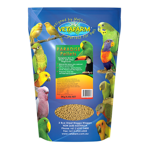 Vetafarm Paradise Pellets for Frugivores 2kg 1