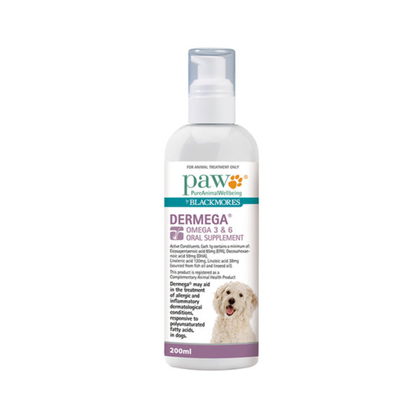 PAW Dermega Omega 3 & 6 Oral Supplement 200ml 1