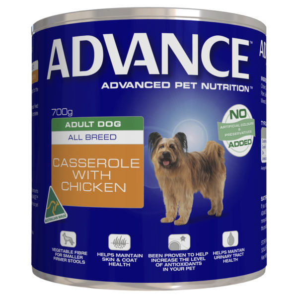 Advance Adult Dog All Breed Casserole with Chicken 700g x 12 Cans 1