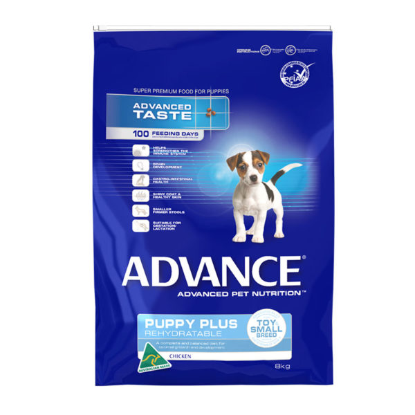 Advance Puppy Plus Rehydratable Toy & Small Breed Chicken 8kg 1