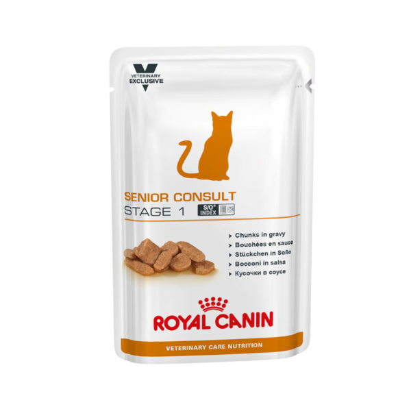Royal Canin Vet Care Nutrition Feline Senior Consult Stage 1 - 100g x 12 Pouches 1