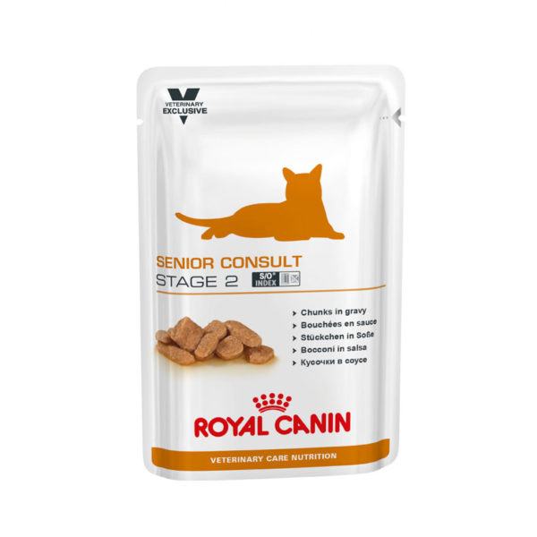 Royal Canin Vet Care Nutrition Feline Senior Consult Stage 2 - 100g x 12 Pouches 1