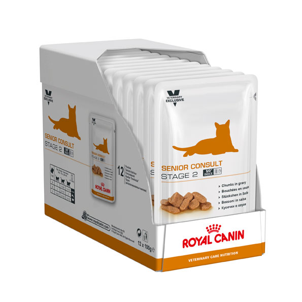 Royal Canin Vet Care Nutrition Feline Senior Consult Stage 2 - 100g x 12 Pouches 2