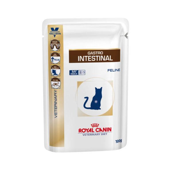 Royal Canin Vet Diet Feline Gastro Intestinal 100g x 12 Pouches 1